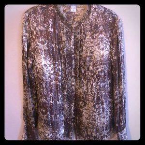 Silk vintage style blouse